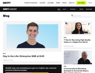 blog.drift.com screenshot