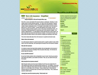 blog.easyinsuranceindia.com screenshot