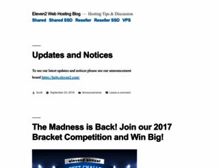 blog.eleven2.com screenshot