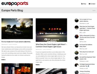 blog.europaparts.com screenshot