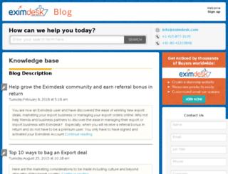 blog.eximdesk.com screenshot
