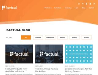 blog.factual.com screenshot