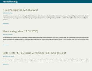 blog.fanfiktion.de screenshot