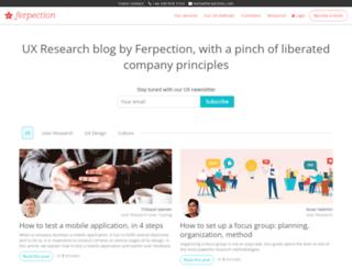 blog.ferpection.com screenshot