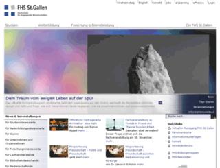 blog.fhsg.ch screenshot