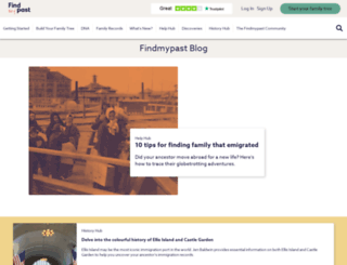 blog.findmypast.ie screenshot