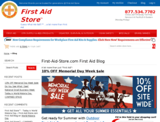 blog.firstaidstore.com screenshot