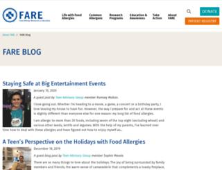 blog.foodallergy.org screenshot