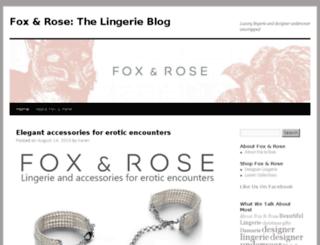 blog.foxandrose.com screenshot