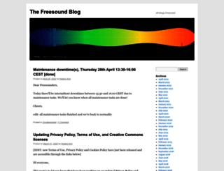 blog.freesound.org screenshot