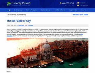 blog.friendlyplanet.com screenshot