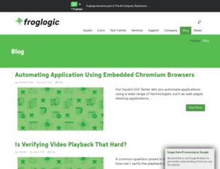 blog.froglogic.com screenshot