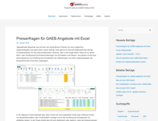 blog.gaeb-online.de screenshot