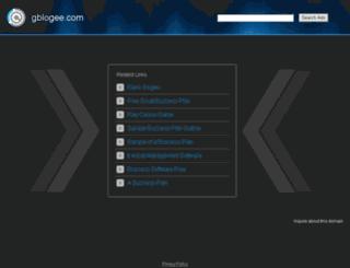 blog.gblogee.com screenshot
