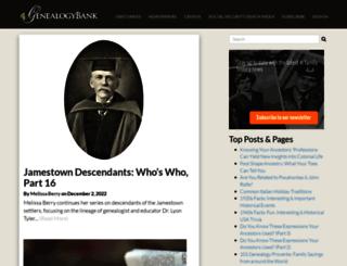 blog.genealogybank.com screenshot