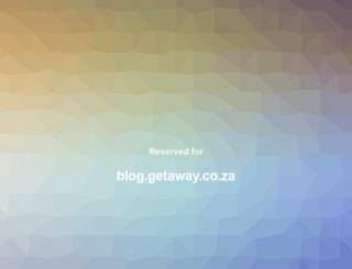 blog.getaway.co.za screenshot