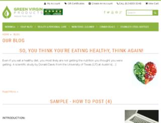 blog.greenvirginproducts.com screenshot