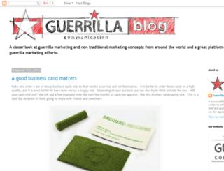 blog.guerrillacomm.com screenshot