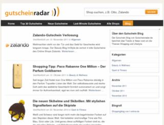 blog.gutscheinradar.de screenshot