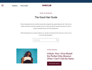 blog.hairclub.com screenshot
