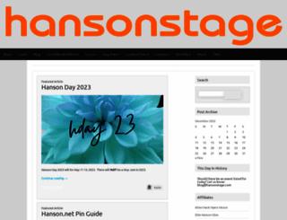 blog.hansonstage.com screenshot