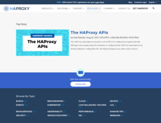 blog.haproxy.com screenshot