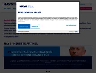 blog.hays.de screenshot