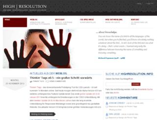 blog.highresolution.info screenshot