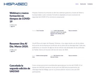 blog.hispasec.com screenshot