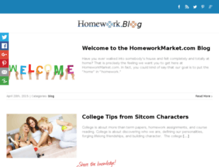 blog.homeworkmarket.com screenshot