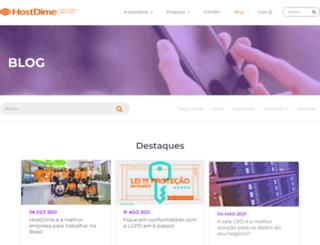 blog.hostdime.com.br screenshot