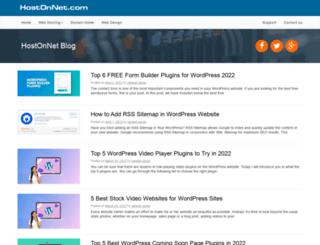 blog.hostonnet.com screenshot