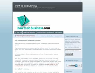 blog.howtodobusiness.com screenshot