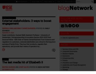 blog.iese.edu screenshot