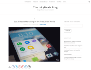 blog.inkydeals.com screenshot