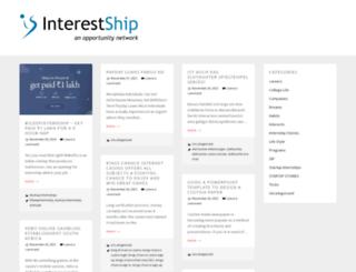 blog.interestship.com screenshot