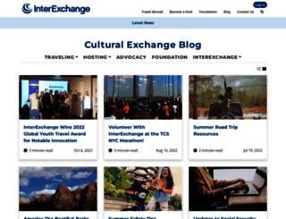 blog.interexchange.org screenshot
