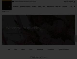 blog.interflora.co.uk screenshot