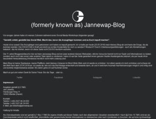 blog.jannewap.ws screenshot