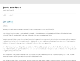 blog.jaredfriedman.com screenshot