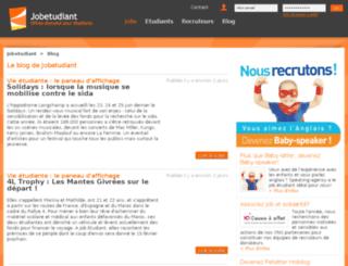 blog.jobetudiant.net screenshot