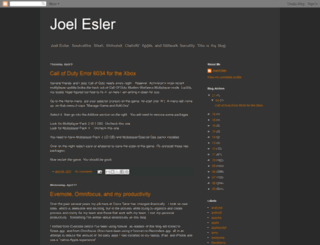 blog.joelesler.net screenshot