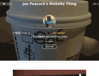 blog.joethepeacock.com screenshot