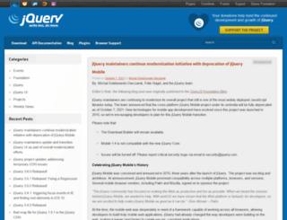 blog.jquery.com screenshot