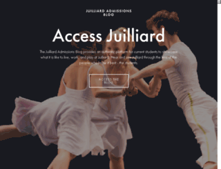 blog.juilliard.edu screenshot