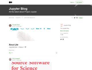 blog.jupyter.org screenshot