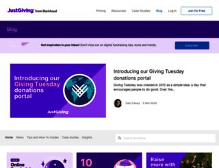 blog.justgiving.com screenshot