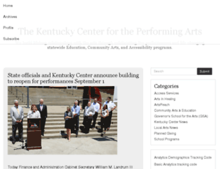 blog.kentuckycenter.org screenshot