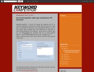 blog.keywordcompetitor.com screenshot
