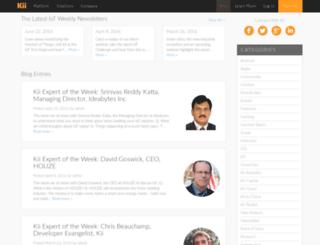 blog.kii.com screenshot